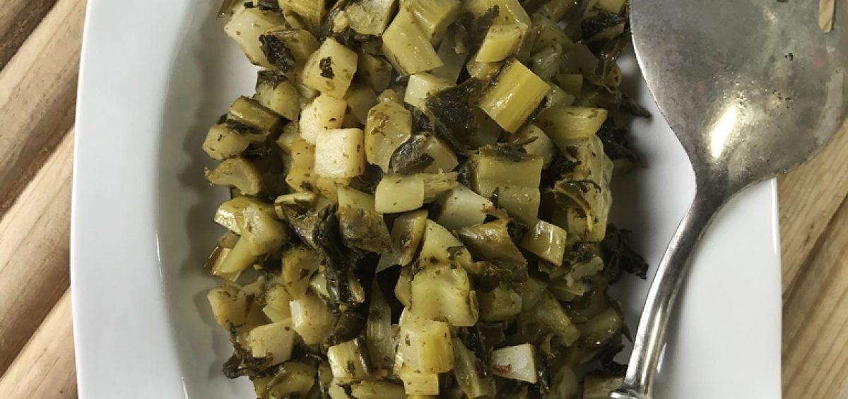 Гарнир из листьев цветной капусты